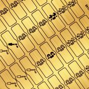 BMC By Bundle Monster Gold Nail Art Vinyl Sticker Guides-Kawaii Collection, Polish Joy