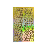 ALLYDREW Gold Nail Art Guide Large Nail Stencil Sheet - Roses