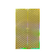 ALLYDREW Gold Nail Art Guide Large Nail Stencil Sheet - Sunrise
