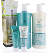 Value Set Orlando Pita Argan Gloss Shampoo & Conditioner 800ml each + Travel Size and Head Massager