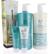 Value Set Orlando Pita Argan Gloss Shampoo & Conditioner 800ml each + Travel Size and Head Massager