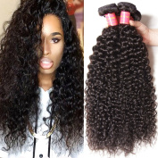 Longqi Malaysian Curly Hair 3 Bundles 16 18 50cm 6A Grade Virgin Human Hair Extensions Natural Colour 95-100g/pc