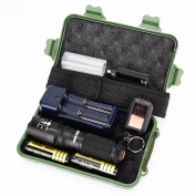 flashlight Set, Sandistore G700 X800 LED Zoom Military Grade Tactical Flashlight Battery