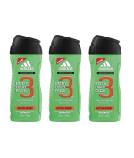 adidas Pack Of 3 Active Start 3 In 1 Shower Gel, Shampoo & Face Wash 250Ml Each