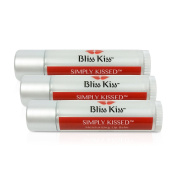 Bliss Kiss Simply Kissed Moisturising Lip Balm - 3-pack
