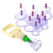 Aoohe Professional Cupping Therapy Equipment Set with pumping handle Health Care Vacuum Plastics 12Cups