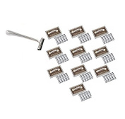 Trac II Chrome Handle + Colonel Ichabod Conk Trac II Razor Blades 10 ct. (Pack of 10) + Makeup Blender