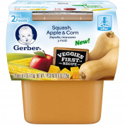 Gerber Purees 2nd Foods Squash Apple Corn Puree, 8 Count