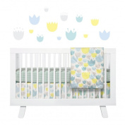 Babyletto Tulip Garden Fitted Crib Sheet - Set of 2