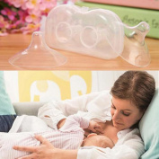 2Pcs Soft Silicone Nursing Breastfeeding Contact Nipple Shields Protector For Baby / Mom