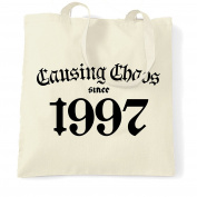 Causing Choas Since 1997 Happy Birthday Made In 1967 20th Twenty Years Old Born A Legend Epic Shopping Tote Bag Cool Funny Gift Present Bag