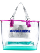 DSQUARED2 WOMEN'S S17SP50711185M037 SILVER PVC TOTE