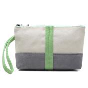 Xjp Women's Canvas Handbag Wristlets Clutch Bag Purse Tote Bag
