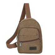Canvas Shoulder Bag, Xjp Sports Casual Chest Bag Crossbody Bag