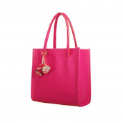 Women's Handbag , Xjp Fashionable Leather Single Shoulder Bag Tote Bag Hot Pink