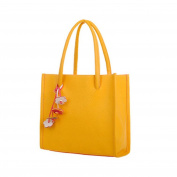 Women's Handbag , Xjp Fashionable Leather Single Shoulder Bag Tote Bag Yellow