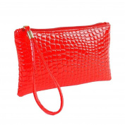 Xjp Women's Wristlets Leather Clutch Handbag Bag Purse Red