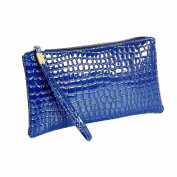 Xjp Women's Wristlets Leather Clutch Handbag Bag Purse Blue
