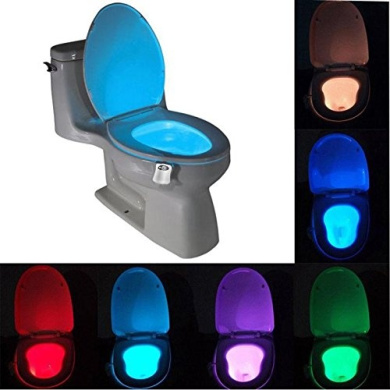 8 Colours LED Toilet Nightlight Motion Activated