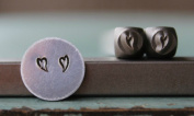 Brand New Supply Guy 3mm Whimsical Heart 2 Pack Metal Punch Design Stamp Set CH-134135