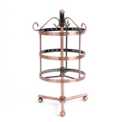 Classic Bronze Rotating Earring Holder / Earring Tree / Earring Organiser / Earring Stand / Jewellery Display with Free 10 Pairs Earring Safety Backs