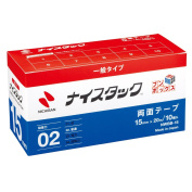NWBB-15 10 roll into NICHIBAN nice tack bun box recycled paper double-sided tape nice tack 15mm x 20M large volume