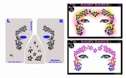Face Painting Stencil - StencilEyes Daisy Dance - Flowers