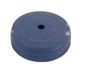 Craft Outlet Glitter Tin Lid, 8.3cm , Blue, Set of 6