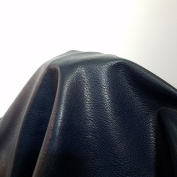 Navy Blue Faux Leather by the Yard Synthetic Pleather 0.9 mm Madison Morris 1 yard 52 inch wide x 36 inch long Soft smooth vinyl Upholstery