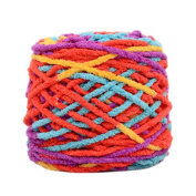 Set of 3 Soft Handmade Gift Crochet Knitted Scarf Kit Cotton Yarns DIY Supplies for Beginners, #06