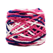 Set of 3 Soft Handmade Gift Crochet Knitted Scarf Kit Cotton Yarns DIY Supplies for Beginners, #07
