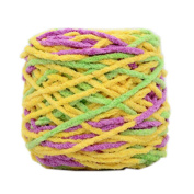 Set of 3 Soft Handmade Gift Crochet Knitted Scarf Kit Cotton Yarns DIY Supplies for Beginners, #15