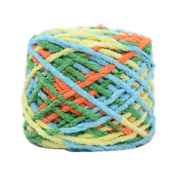 Set of 3 Soft Handmade Gift Crochet Knitted Scarf Kit Cotton Yarns DIY Supplies for Beginners, #11