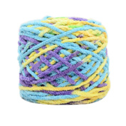 Set of 3 Soft Handmade Gift Crochet Knitted Scarf Kit Cotton Yarns DIY Supplies for Beginners, #05