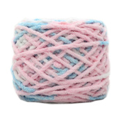 Set of 3 Soft Handmade Gift Crochet Knitted Scarf Kit Cotton Yarns DIY Supplies for Beginners, #17