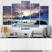 Blxecky DIY 5D Diamond Painting Cross Stitch Crafts Kit, 5 sets of splicing paintings. Home living room decoration. ocean