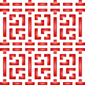 """Chinese Lattice Stencil - (size 6.5""""w x 6.5""""h) Reusable Wall Stencils for Painting - Best Quality Allover Wallpaper ideas - Use on Walls, Floors, Fabrics, Glass, Wood, Terracotta, and More……"""