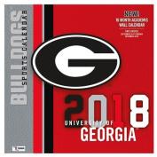 Georgia Bulldogs 2018 12x12 Team Wall Calendar