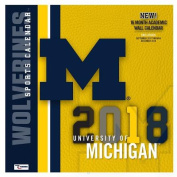 Michigan Wolverines 2018 12x12 Team Wall Calendar
