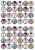48 Doc McStuffins Edible PREMIUM THICKNESS SWEETENED VANILLA, Wafer Rice Paper Cupcake Toppers/Decorations