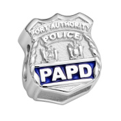 Port Authority Police Charm - PAPD - Fits Pandora Bracelet - Sterling Silver