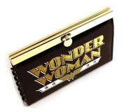 Uwear Women'S Retro Wonder Metal Frame Patent Clasp Purse One Size Black And Gold