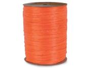 MATTE Orange Raffia 100 yd