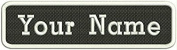 Custom Name Tag Embroidered Sew or Iron on Patch Black and White tag