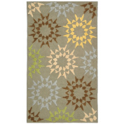 Safavieh Martha Stewart Collection MSR1843F Quilt Cotton Area Rug, 0.6m by 1.2m, Pebble and Grey
