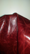 Burgundy Upholstery Glazed Cowhide Leather About 20 Sf By Nat Leathers