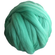 Merino Wool Roving Spinning for Arm Knitting Blanket Super Giant Thick Chunky Yarn, 1kg