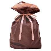 TAKA Drawstring Gift Bag 50 Bags Of Big Size Brown W 31cm x D 12cm x H 43cm ( Made in Japan ) 50-3561