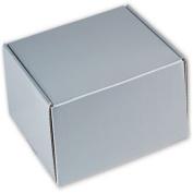 Silver Metallic Decorative Mailers, 8 x 20cm x 7.6cm