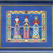 Three Kings LINEN Kit Beaded Counted Cross Stitch Kit by Jim Shore Designs  .  006 (Bundle
